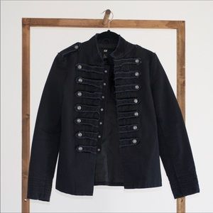 H&M Black Military Jacket